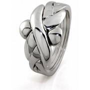 Уникальное серебреное кольцо головоломка от Wickerring фото