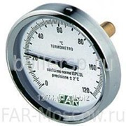 "Термометр 0-120°С, зонд 50мм, D=80 мм, торцевое соединение 1/2"", артикул FA 2600 фото"