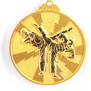 Медаль рельефная Таэквондо золото фото