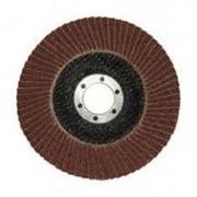 Круг шлифовальный Зубр лепестковый торцевой, тип КЛТ 1, зерно - электрокорунд нормальный, P80, 115х22,2мм Код: 36590-115-80 фото