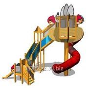 Игровой комплекс Angry Birds с винтовой горкой фото