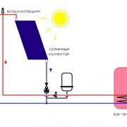 Схема солнечной водонагревательной установки. фото