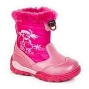 Сапоги зимние для девочек 23 Розовые фото