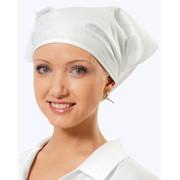 Головные уборы для медперсонала: КОСЫНКА (белая) для медицинского работника и поваров; КОЛПАКИ МЕДИЦИНСКИЕ (белый / зеленый) фото