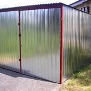 Оцинкованные гаражи фото