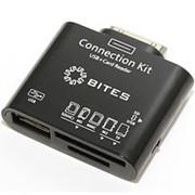 Считыватель карт памяти картридер для Samsung Galaxy Tab OTG 5Bites RES-104BK, microSD-TF, SD-MMC, MS, M2, порт USB Af, фото