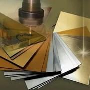 АБС пластик лист глянцевый серебристо/чёрный фото