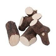 Керамические дрова (темное дерево) фото