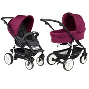 Универсальная коляска 2 в 1 Teutonia Fun 5020/5000 Berry Pink/Gala Black FUN5020/5000 фото