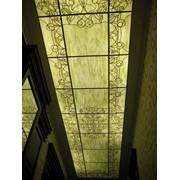 Витражный подвесной потолок фото