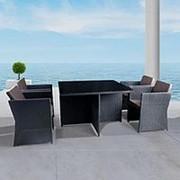Комплект плетеной мебели T300A/Y300A-W53 Brown 4Pcs фото