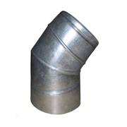 Колено с теплоизоляцией 45 н / оц 1мм, диаметр (ф100 / 160) фото