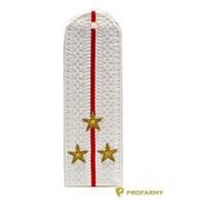 Погоны МВД старший лейтенант без канта звезда латунь белые №8 фото