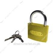 Замок навесной Желтый 75 крестовой ключ (кратно упаковке - 6шт) №317320 фото