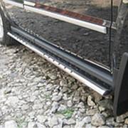 Пороги Jeep Liberty 2007-2012 (труба овал c проступью 75х42 мм) фото