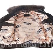 Куртка женская с меховым воротником фото