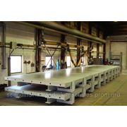 Столы для изготовления бетонных конструкций. фото