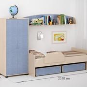 Детская комната Легенда 23 венге светлый/лен голубой фото