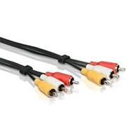 Аудио-видео кабель 3RCA тюльпан штекер-штекер Philips SWV2966W-10 - черный, 3 метра фото