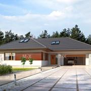 Готовый проект дома MX46 c полезным чердачным пространством фото