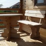 Мебель деревянная садовая от производителя Киев фото