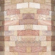 Плитка ліпоріт торцована+рустована біло-розова фото