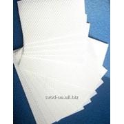 Салфетки бумажные белые (40листов) фото
