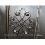 Ворота распашные с калиткой. Грунтованные, Покрашенные. фото