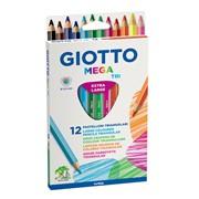Набор цветных карандашей GIOTTO MEGA-Tri 12 цветов фото