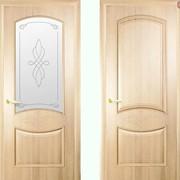 Дверь из бруса Новый стиль Донна ясень фото