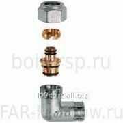 """Угольник 1"""" НР - концовка для металлопластиковых труб 20х2, хромированный, артикул FC 5261 180204 фото"""