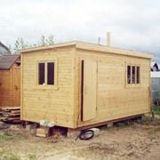Бытовки деревянные строительные фото