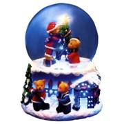 Декорация Хрустальный шар с медведями фото