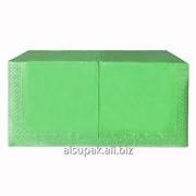 Салфетки бумажные цветные, салатовые, 200 штук фото