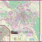 План міста Львів 135х97 см М1:12 000 ламинированная/на планках Код товара 222674 фото