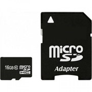 Карта памяти eXceleram 16Gb microSDHC class 10 с адаптером SD (MSD1610A) фото