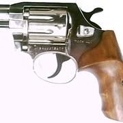Револьвер ALFA 420, никель, деревянная рукоятка фото
