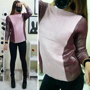 Женский стильный свитер металлик блеск, в расцветках, Турция фото
