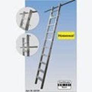 Алюминиевая лестница 10 ступеней для стеллажей, подвесная с 2мя парами крюков Stabilo KRAUSE 125194 фото