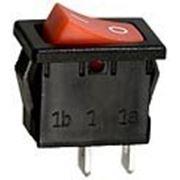 R19A-12BRBT выключатель ON-OFF 250В 6А красн. (B100G-R,SWR41). фото