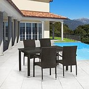 Комплект плетеной мебели T256A/Y379A-W53 Brown 4Pcs фото