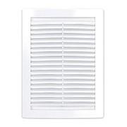 Решетка вентиляционная 200x300 мм, 2030РЦ, с сеткой, пластик, белая фото