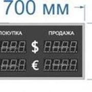 Noname Двухстороннее табло курсов валют для помещения. Высота знака 7,5 см арт. КрС22298 фото