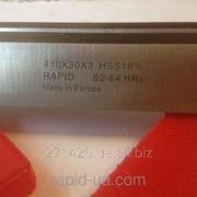 Строгальный фуговальный нож по дереву HSS w18% 410*30*3 Rapid Germany HSS41030 фото