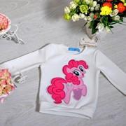 Детский свитшот с аппликацией, в расцветках фото