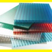 Сотовый поликарбонат от 4 до 10 мм цветной и прозрачный. Тепличный для беседок или навесов. Доставка по всей области. 2 УФ защита № 19019 фото