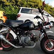 Мопед мокик Honda Monkey рама Z50J Minibike тюнинг задний багажник пробег 1 т.км черный фото