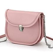 """Женская кожаная сумка """"Паула"""" (нежно-розовый) фото"""