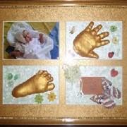 Создание скульптурных копий детской ручки и ножки, подарочные слепки, сувенирные слепки фото