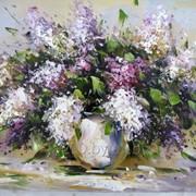 Картины маслом на холсте с видами белоруской природы и цветов. фото
